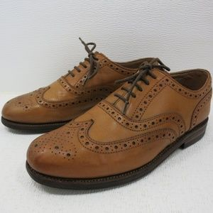 Grenson Brogue Leather Dress Wingtip Oxfords 9 G
